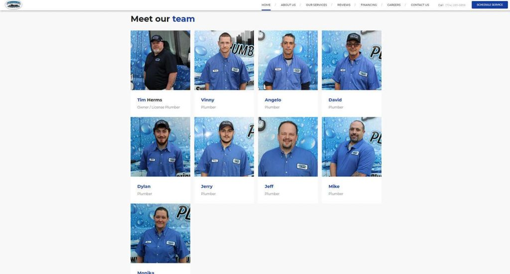 Superior Plumbing and Drains Homepage Example 5